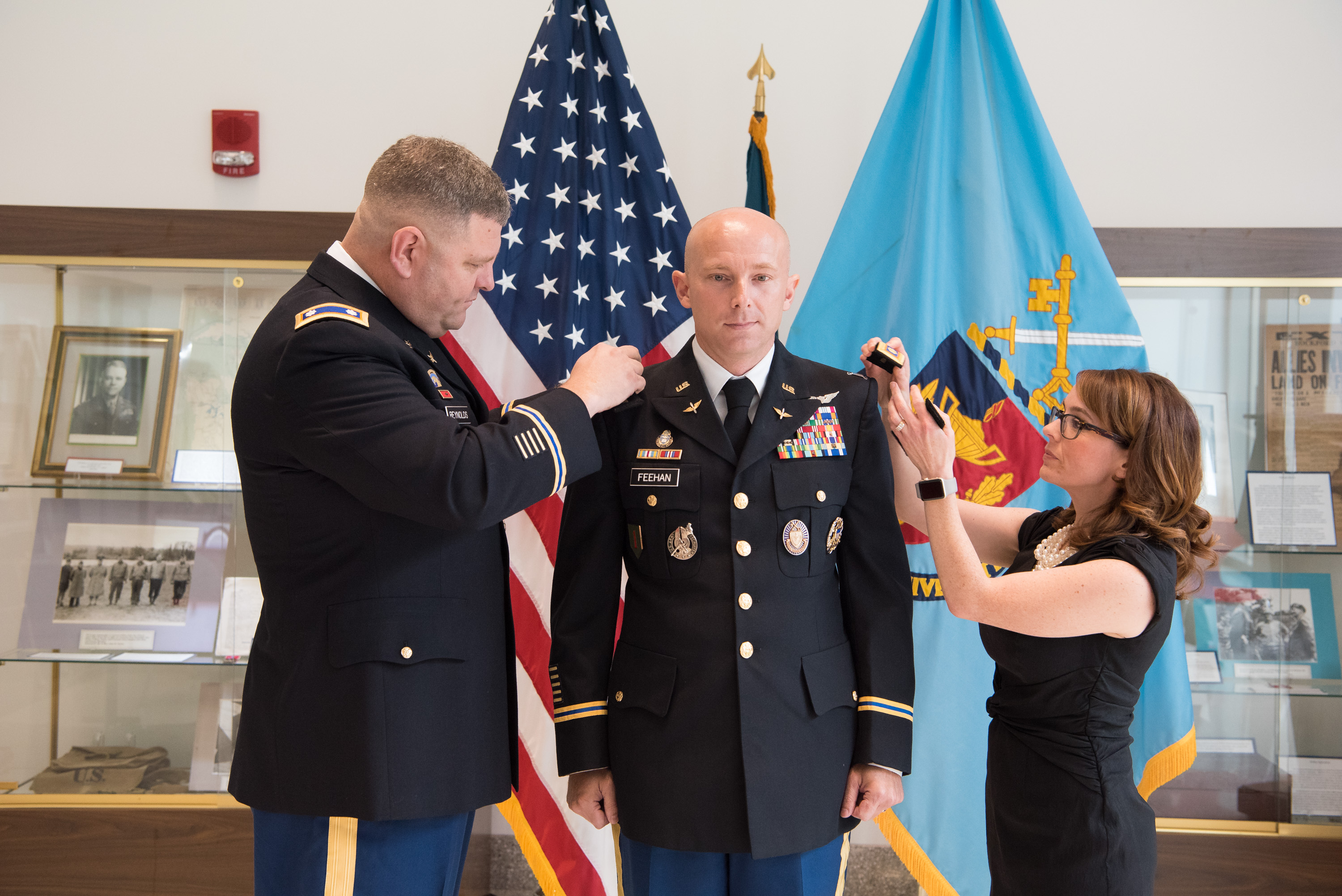 Military Faculty Matt Feehan Promoted to Lieutenant Colonel