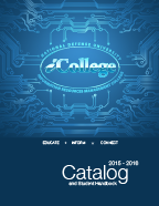 iCollege logo with circuitry surrounding it.